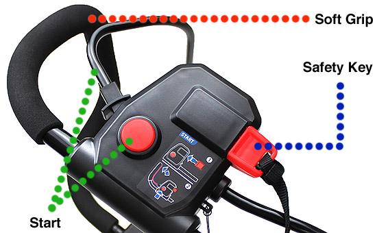 Hyundai HYM60LI380 Cordless Mower Soft Grip, Key and Safety Start