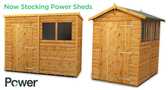Now Stocking Power Sheds