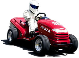 The Stig rides a Honda Mower into the record books
