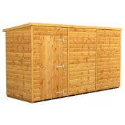 Power 12x4 Pent Garden Shed - Windowless / No Windows