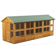Power 18x6 Apex Potting Shed - Double Door