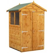 Power Apex 4x4 Garden Shed with Double Doors