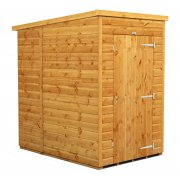 Power 4x6 Pent Garden Shed - No Windows / Windowless