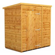 Power 6x4 Pent Garden Shed - No Windows / Windowless