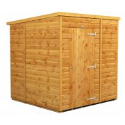Power 6x6 Pent Garden Shed - No Window / Windowless