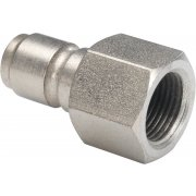 BE 1/4 Series Male QR Coupler to 1/4in F Thread - Stainless Steel