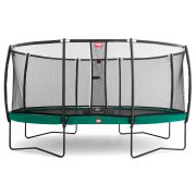 "BERG Grand Champion (16ft 9"" x 12ft 6"") in Green with Standard Safety Net"