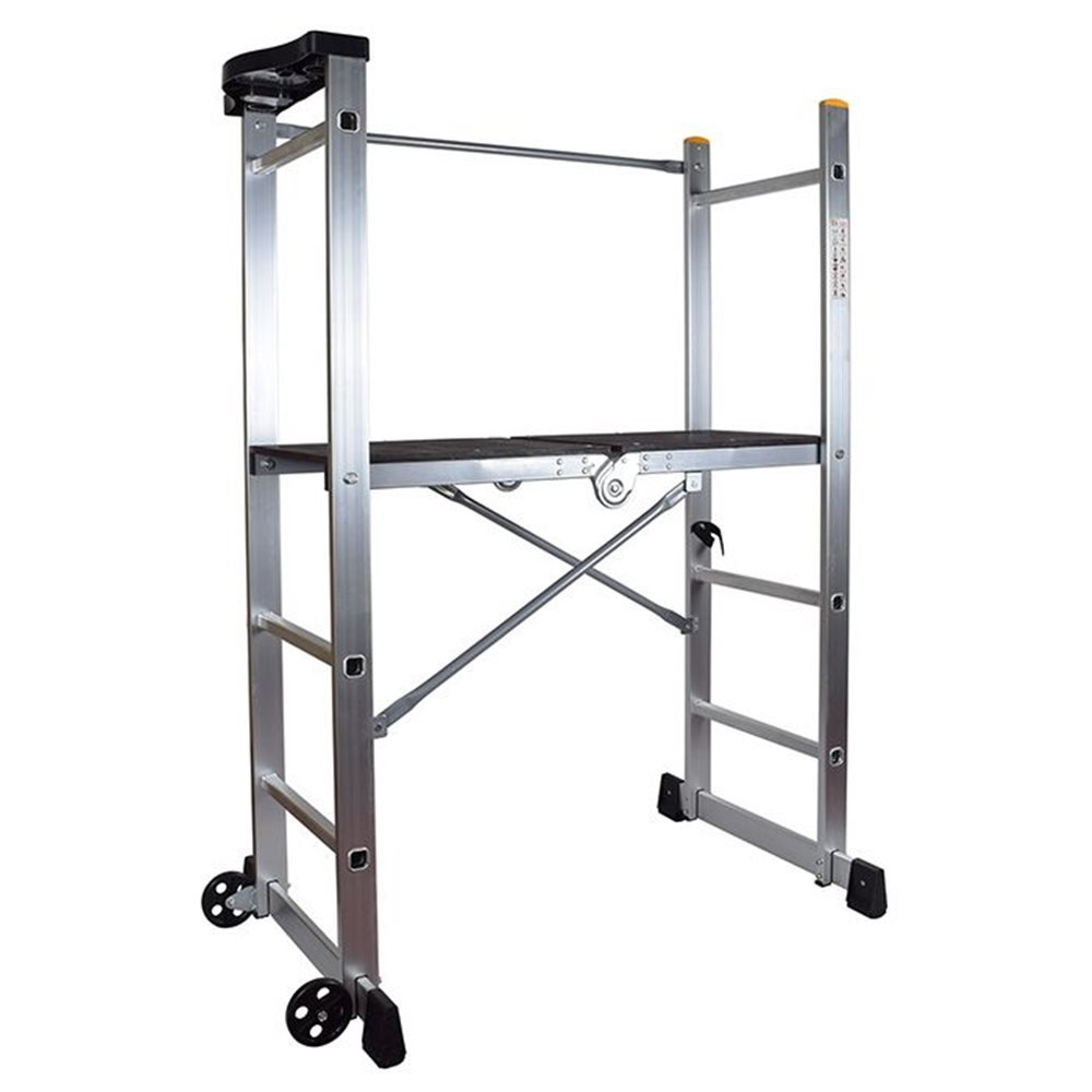 Portable Scaffolding With Wheels : Abbey folding scaffold platform ladder ladders and platforms