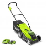 Greenworks G40LM35 40v 35cm/14in Cordless Mower with 2Ah Battery