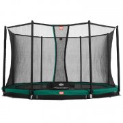 12.5ft BERG Favorit InGround Trampoline 380 + Safety Net Comfort