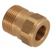 "M22 Male to 1/4"" BSP Female Brass Coupler"