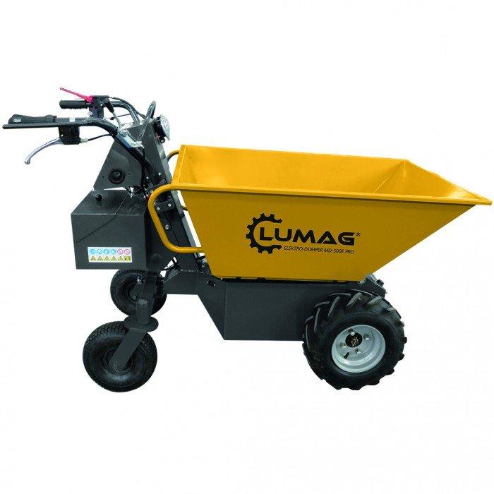 Lumag Md500e Pro 500kg Electric Power Barrow Mini Dumper Lumag