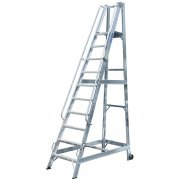 Lyte Industrial WS10 Warehouse Ladder - Side Rails - 10 Treads / Steps