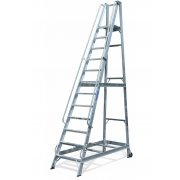 Lyte Industrial WS12 Warehouse Ladder - Side Rails - 12 Treads / Steps
