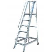 Lyte Industrial WS6 Warehouse Ladder - Side Rails - 6 Treads / Steps