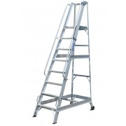 Lyte Industrial WS8 Warehouse Ladder - Side Rails - 8 Treads / Steps
