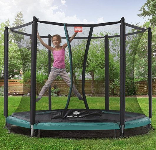 8ft BERG Talent InGround Trampoline 240 + Safety Net