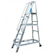 Lyte Industrial WS7 Warehouse Ladder - Side Rails - 7 Treads / Steps