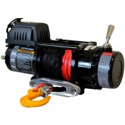 Warrior Ninja 4500 24V Electric Winch, Synthetic Rope - 4500lbs / 2041kg