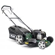 "Webb R18HW 18"" Self Propelled Steel Deck High Wheel 4 Wheel Petrol Rotary Mower"