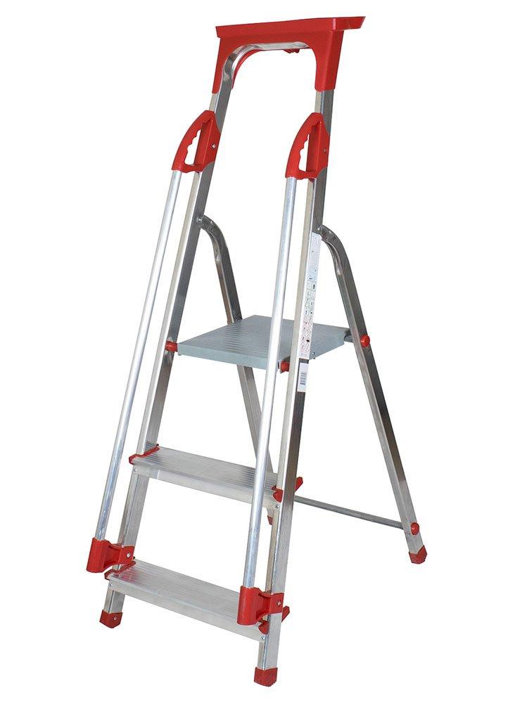 Abbey 3 Step Aluminium Safety Platform Step Ladder