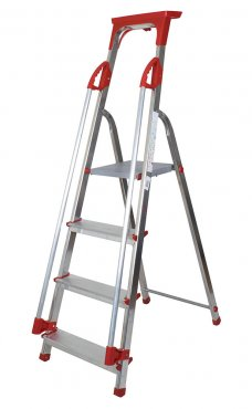 Abbey 4 Step Aluminium Safety Platform Step Ladder