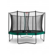 14ft BERG Champion 430 Trampoline in Green with Deluxe Safety Net