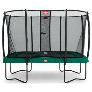 7 x 10.75ft BERG Eazyfit Rectangular Regular Trampoline + Deluxe Safety Net