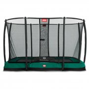 7 x 10.75ft BERG Eazyfit InGround Rectangular Trampoline + Safety Net