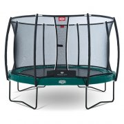 BERG Elite+ Regular Green 380 Trampoline + Safety Net T-series 380 - 12.5ft