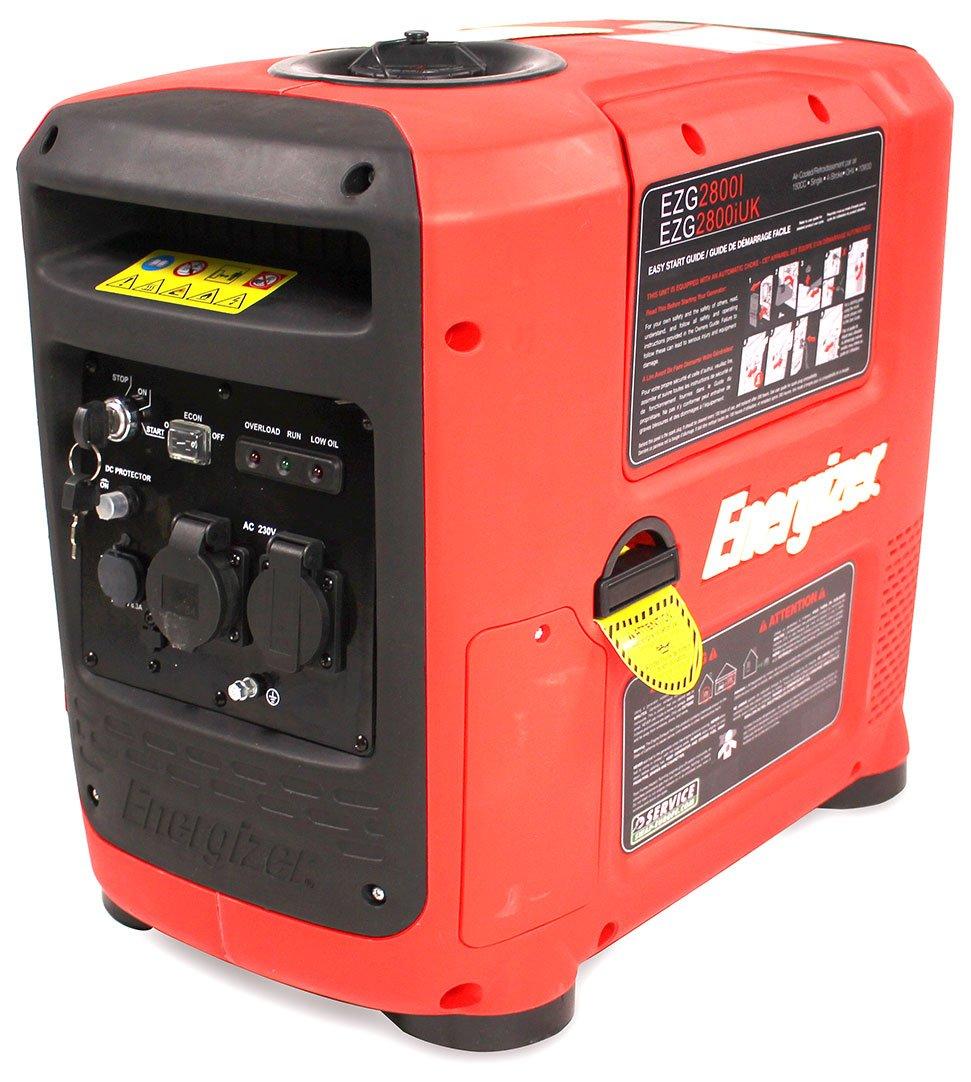 Energizer EZG2800I 2 8kw (2 6kw Rated) Inverter Generator