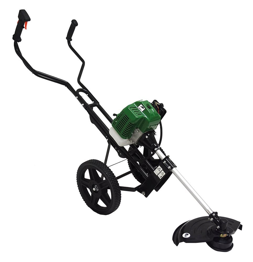 Tck gofer 52cc petrol wheeled garden multi tool line for Garden tools for 4 wheeler
