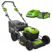 Greenworks 40v 46cm Self Propelled Mower with 2 x 2Ah Batteries & Charger
