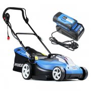 Hyundai HYM60LI420 58V Cordless Battery Rear Roller Lawn Mower + Battery & Charger