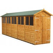 Power 20x4 Apex Garden Shed with Double Doors