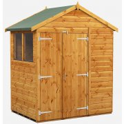 Power Apex 4x6 Garden Shed with Double Doors